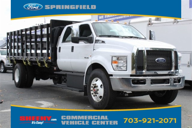 2019 F-750 Crew Cab DRW 4x2, PJ's Platform Body Stake Bed #GF03881 - photo 1