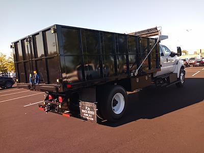 2022 F-750 Crew Cab DRW 4x2,  PJ's Truck Bodies Platform Body Landscape Dump #GF04925 - photo 2