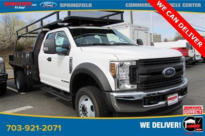 2019 Ford F-550 Super Cab DRW 4x4, PJ's Platform Body Concrete Body #GG80478 - photo 1