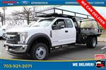 2019 Ford F-550 Super Cab DRW 4x4, PJ's Platform Body Concrete Body #GG80478 - photo 2