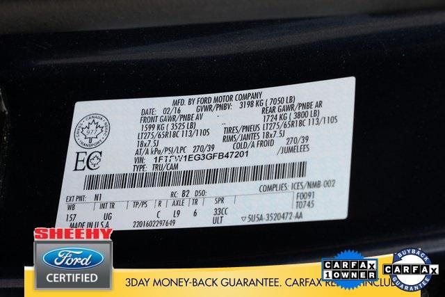 2016 F-150 SuperCrew Cab 4x4, Pickup #GP9091 - photo 26