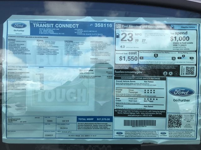 2018 Transit Connect 4x2,  Empty Cargo Van #AF072 - photo 37