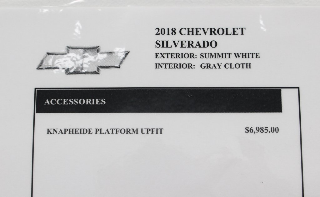 2018 Silverado 3500 Regular Cab DRW 4x2,  Knapheide Platform Body #E21393 - photo 39