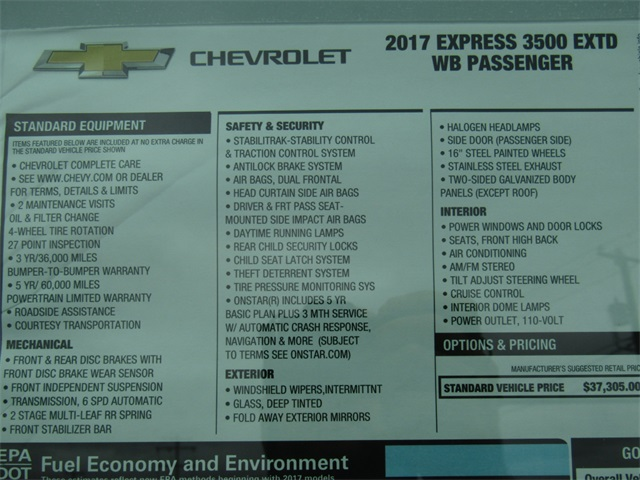 2017 Express 3500, Passenger Wagon #C1003 - photo 4