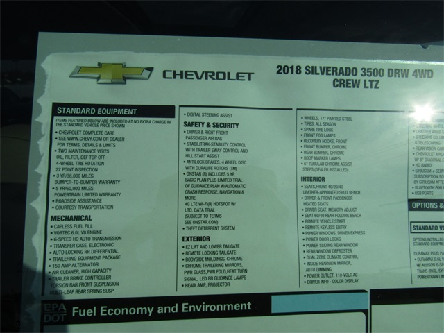 2018 Silverado 3500 Crew Cab 4x4, Pickup #C1114 - photo 5