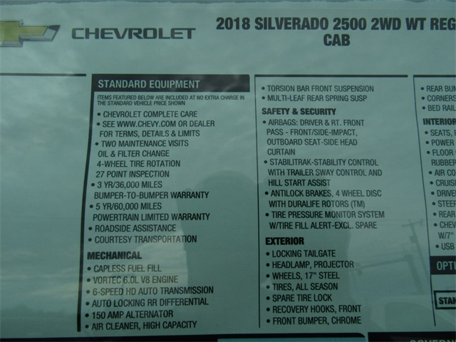 2018 Silverado 2500 Regular Cab, Pickup #C1265 - photo 6