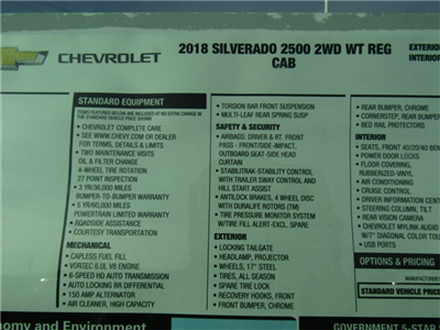 2018 Silverado 2500 Regular Cab, Pickup #C1266 - photo 6