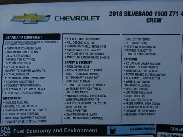 2018 Silverado 1500 Crew Cab 4x4,  Pickup #C1609 - photo 9