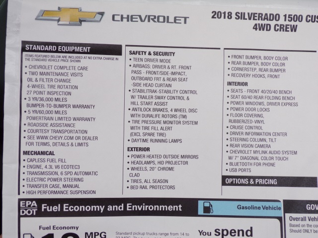2018 Silverado 1500 Crew Cab 4x4,  Pickup #C1773 - photo 8