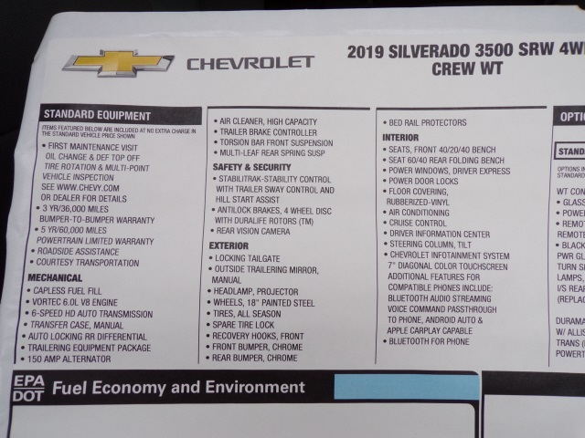 2019 Silverado 3500 Crew Cab 4x4,  Pickup #C1856 - photo 7