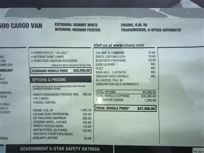 2021 Chevrolet Express 2500 4x2, Empty Cargo Van #C3531 - photo 12