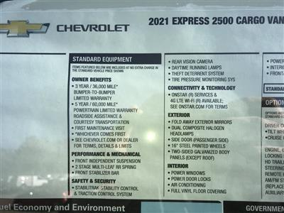 2021 Chevrolet Express 2500 4x2, Empty Cargo Van #C3534 - photo 11