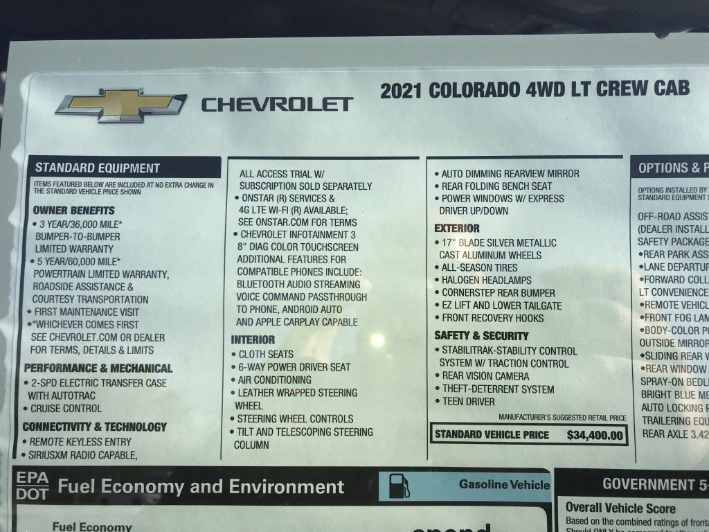 2021 Chevrolet Colorado Crew Cab 4x4, Pickup #C3661 - photo 10