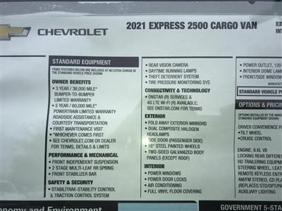 2021 Chevrolet Express 2500 4x2, Empty Cargo Van #C3678 - photo 11