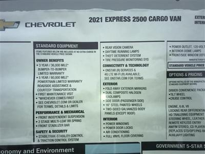 2021 Chevrolet Express 2500 4x2, Empty Cargo Van #C3693 - photo 11