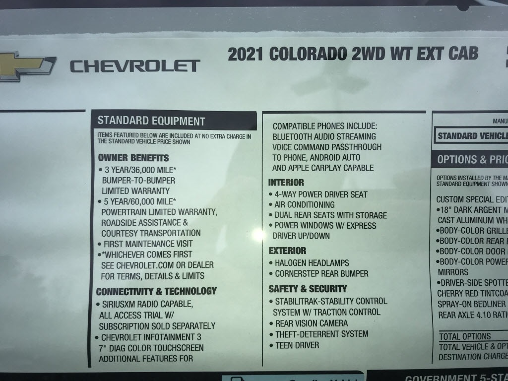 2021 Chevrolet Colorado Extended Cab 4x2, Pickup #C3704 - photo 10