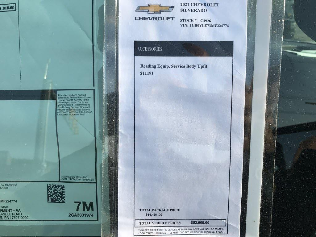 2021 Chevrolet Silverado 2500 Regular Cab 4x4, Reading SL Service Body #C3926 - photo 16