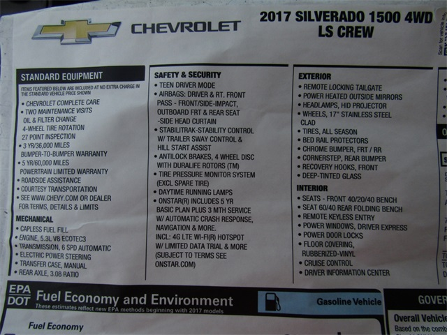2017 Silverado 1500 Crew Cab 4x4, Pickup #C590 - photo 18