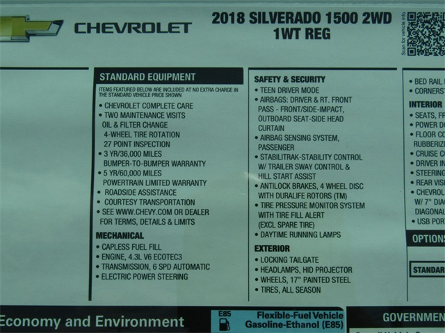 2018 Silverado 1500 Regular Cab 4x2,  Pickup #C851 - photo 4