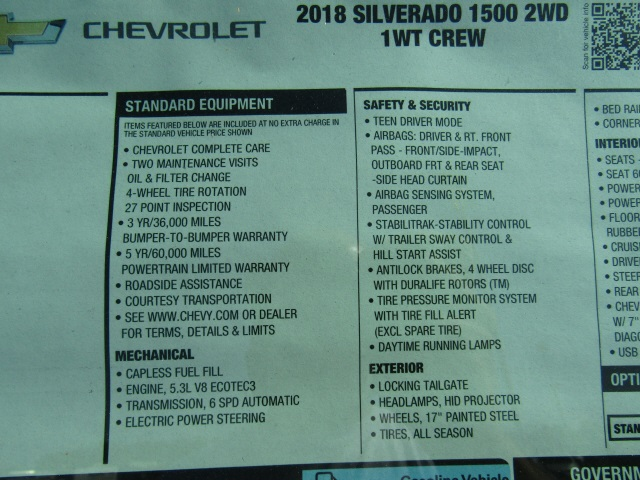 2018 Silverado 1500 Crew Cab 4x2,  Pickup #C943 - photo 5