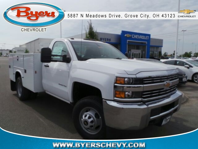 2017 Silverado 3500 Regular Cab DRW 4x4, Knapheide Service Body #173078 - photo 3