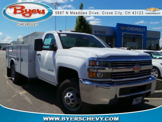 2017 Silverado 3500 Regular Cab DRW 4x4, Knapheide Service Body #173115 - photo 3