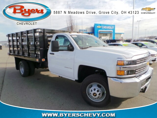 2018 Silverado 3500 Regular Cab DRW, Knapheide Stake Bed #183030 - photo 3