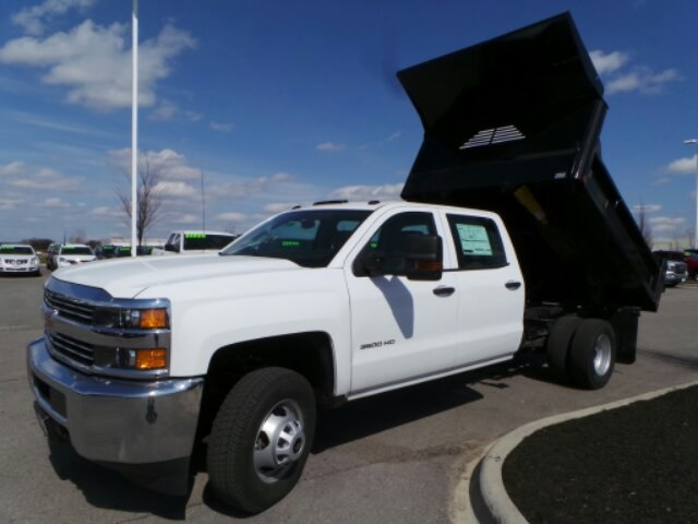 2018 Silverado 3500 Crew Cab DRW 4x4,  Crysteel Dump Body #183055 - photo 9