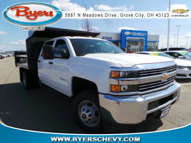 2018 Silverado 3500 Crew Cab DRW 4x4,  Crysteel Dump Body #183055 - photo 3