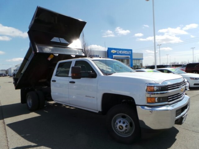 2018 Silverado 3500 Crew Cab DRW 4x4,  Crysteel Dump Body #183055 - photo 7