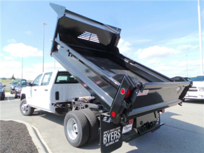 2018 Silverado 3500 Crew Cab DRW 4x4,  Crysteel E-Tipper Dump Body #183055 - photo 10