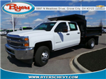 2018 Silverado 3500 Crew Cab DRW 4x4,  Crysteel E-Tipper Dump Body #183055 - photo 1