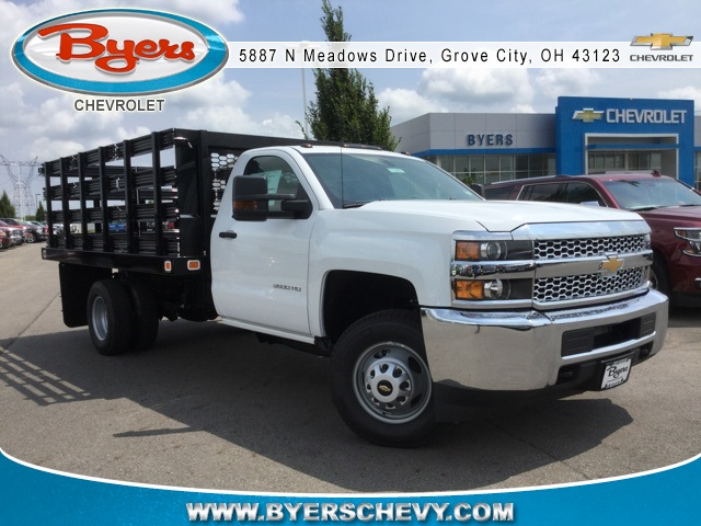 2019 Silverado 3500 Regular Cab DRW 4x2,  Knapheide Stake Bed #193003 - photo 3