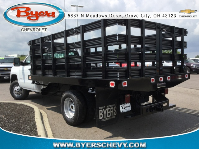 2019 Silverado 3500 Regular Cab DRW 4x2,  Knapheide Stake Bed #193003 - photo 2