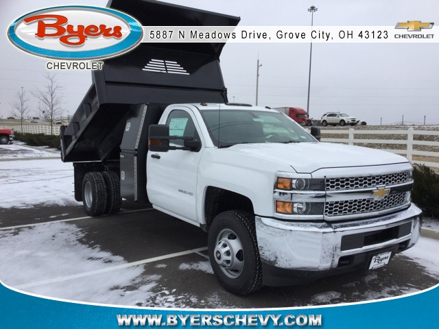 2019 Silverado 3500 Regular Cab DRW 4x4,  Crysteel Dump Body #193036 - photo 1