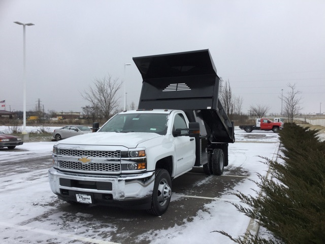 2019 Silverado 3500 Regular Cab DRW 4x4,  Crysteel Dump Body #193036 - photo 10
