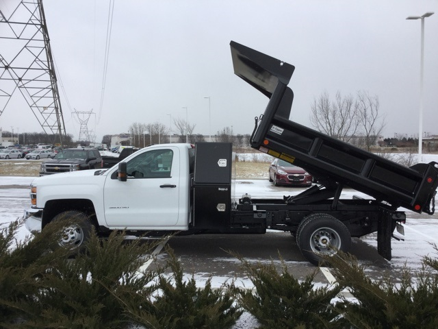 2019 Silverado 3500 Regular Cab DRW 4x4,  Crysteel Dump Body #193036 - photo 5