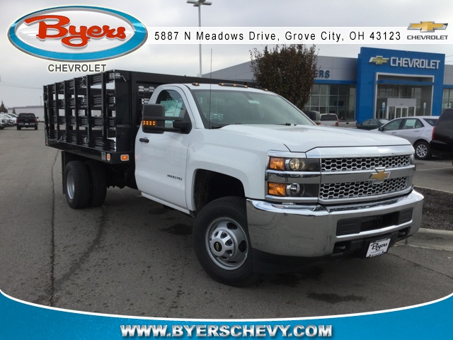 2019 Silverado 3500 Regular Cab DRW 4x2,  Knapheide Stake Bed #193040 - photo 3