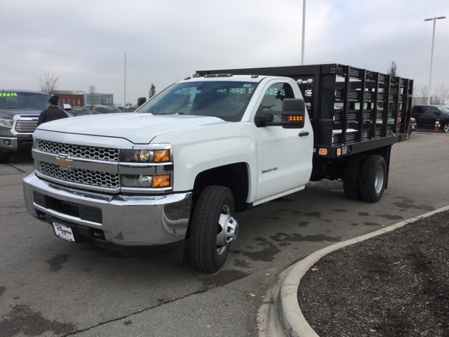 2019 Silverado 3500 Regular Cab DRW 4x2,  Knapheide Stake Bed #193040 - photo 35