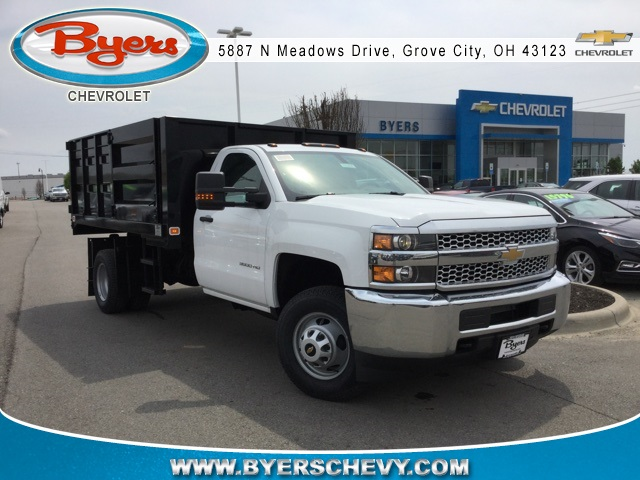 2019 Silverado 3500 Regular Cab DRW 4x4,  Knapheide Landscape Dump #193086 - photo 3