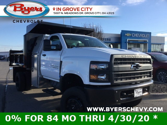 2019 Silverado 5500 Regular Cab DRW 4x4, Crysteel Dump Body #C193131 - photo 1