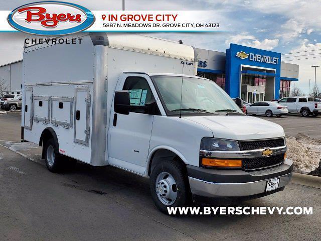 2021 Chevrolet Express 3500 4x2, Rockport Service Utility Van #C213106 - photo 1