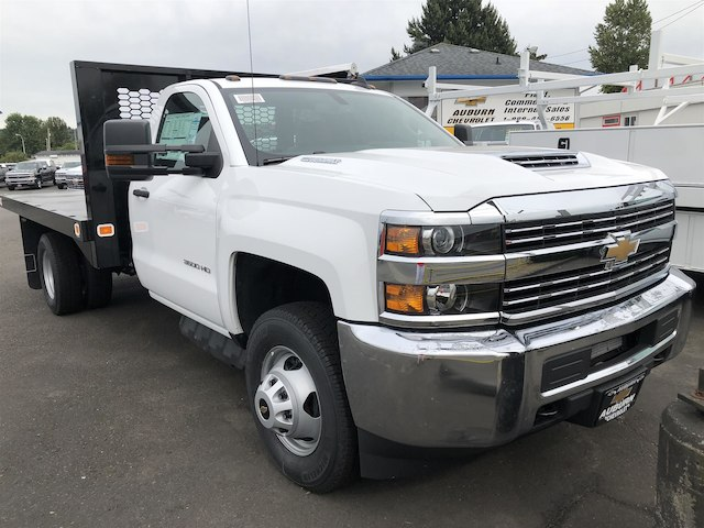 2018 Silverado 3500 Regular Cab DRW 4x4,  Knapheide Value-Master X Platform Body #11711 - photo 3