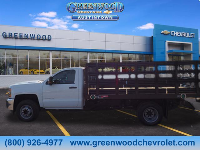 2018 Silverado 3500 Regular Cab DRW 4x2,  Monroe Stake Bed #J36710 - photo 3