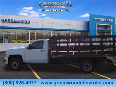 2018 Silverado 3500 Regular Cab DRW 4x2,  Monroe Work-A-Hauler II Platform Body #J36710 - photo 3