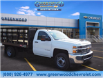 2018 Silverado 3500 Regular Cab DRW 4x2,  Monroe Work-A-Hauler II Platform Body #J36710 - photo 1