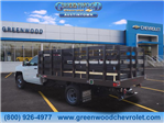 2018 Silverado 3500 Regular Cab DRW 4x2,  Monroe Work-A-Hauler II Platform Body #J36710 - photo 2