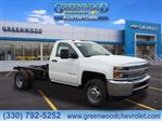 2019 Silverado 3500 Regular Cab DRW 4x4,  Cab Chassis #K55697 - photo 1