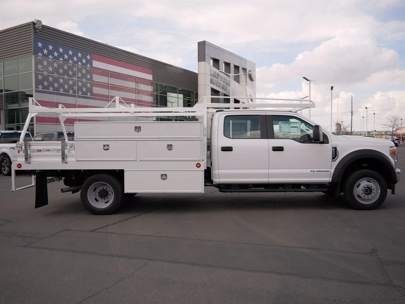 2021 Ford F-550 Crew Cab DRW 4x4, Scelzi SCTFB Contractor Body #64056 - photo 4