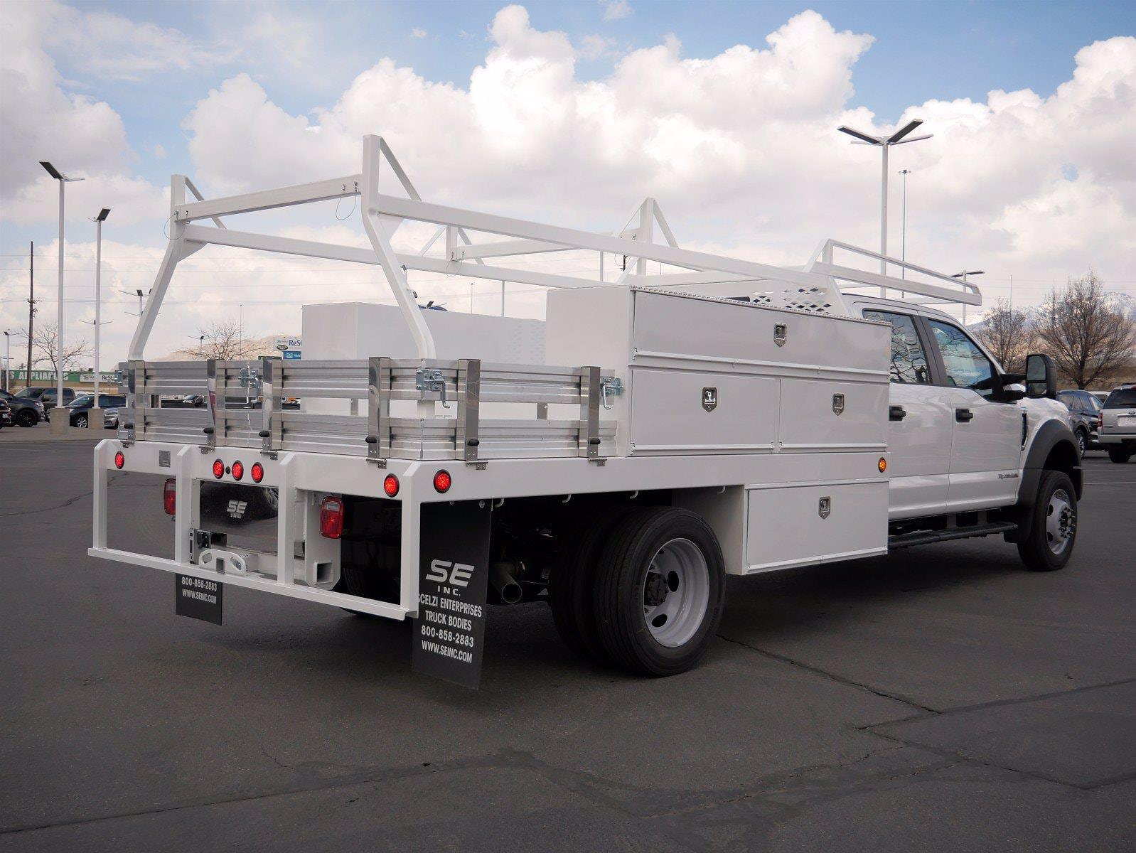 2021 Ford F-550 Crew Cab DRW 4x4, Scelzi SCTFB Contractor Body #64056 - photo 3